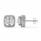 Get The Diamond-Look When Your Purchase Custom Micro Pave CZ Earrings From Hip Hop Bling