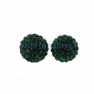 Get Lucky with Green Disco Ball Earrings