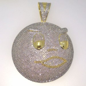 Chief Keef Style Gold Blood Money Bling Pendant
