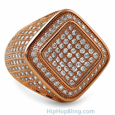 Elevate Your Style With Rose Gold Bling Bling Rings From Hip Hop Bling