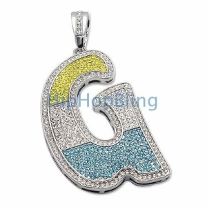 "Three-Colored Iced Out ""G"""