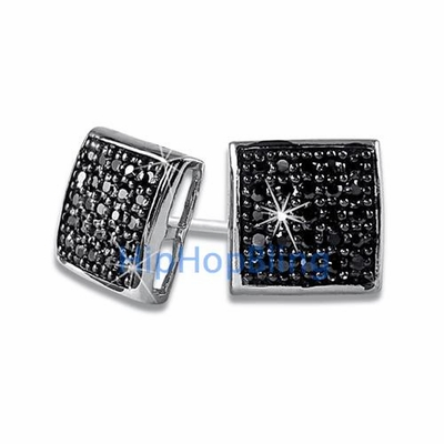 Black Out Your Bling With Black Bling Bling Earrings From Hip Hop Bling