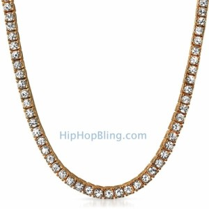 Rose Gold Chain with 1 Row of Bling.