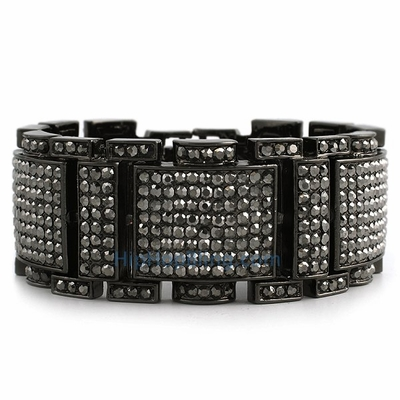 Look Fresh With Black Bling Bling Bracelets From Hip Hop Bling
