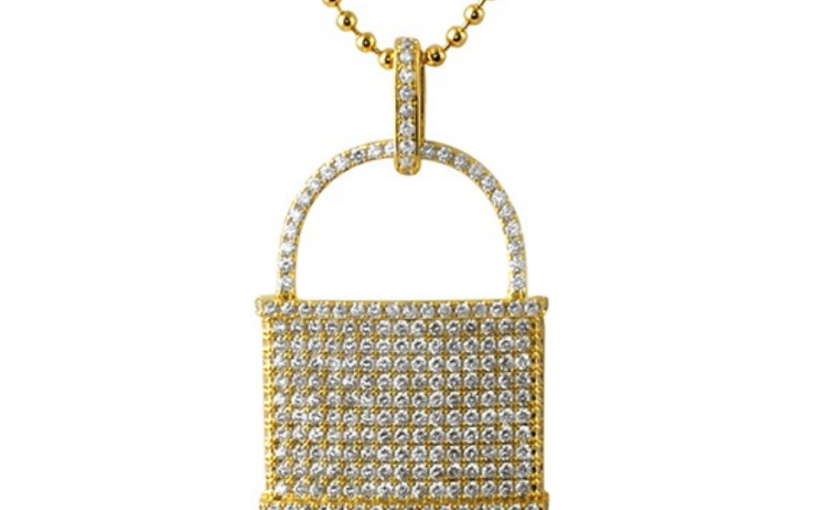 Pad lock micro pave cz gold pendant from hip hop bling hip hop pad lock micro pave cz gold pendant from hip hop bling mozeypictures Gallery
