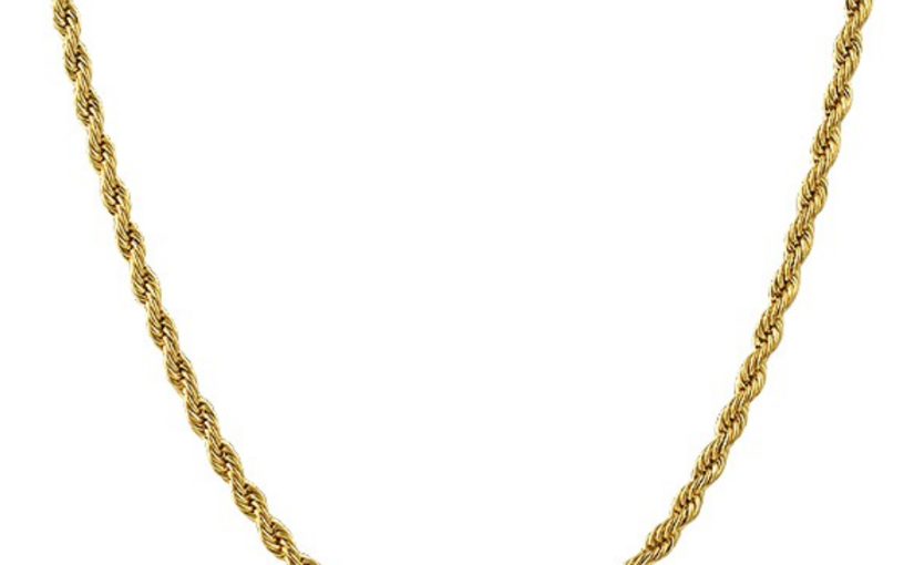 Look Classic With 2MM Gold Rope Chain