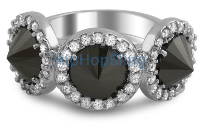 Add Some Bling To Your Finger With A Reverse Black Diamond Ladies Ring