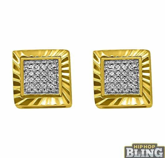 Dr. Dre Style Bling Earrings From Hip Hop Bling Will Help You Rep At The Club