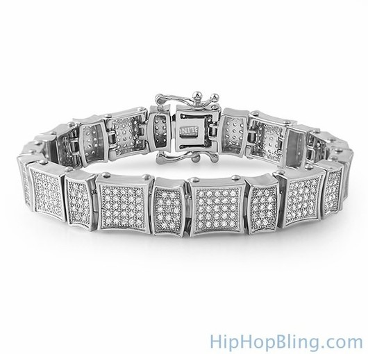 Turn Up Your Style With The Freshest Iced Out Bracelets Online From Hip Hop Bling